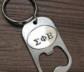 Custom bottle opener - Hand Stamped